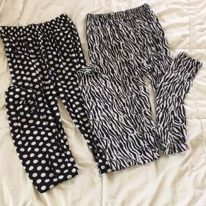 Pants - NWOT Full length flowy pants bundle